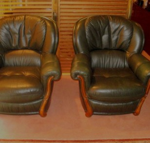 green leather  armchairs-P5080018